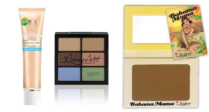 base viso makeup look acquamarina Wjcon The Balm BBcream Garnier
