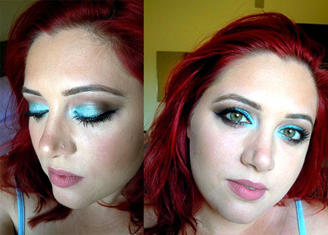 makeup look acquamarina