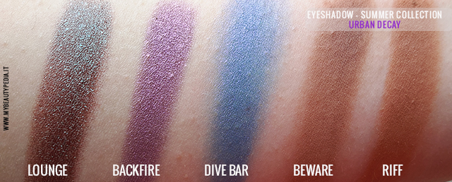 swatches urban decay lounge eyeshadow summer collection