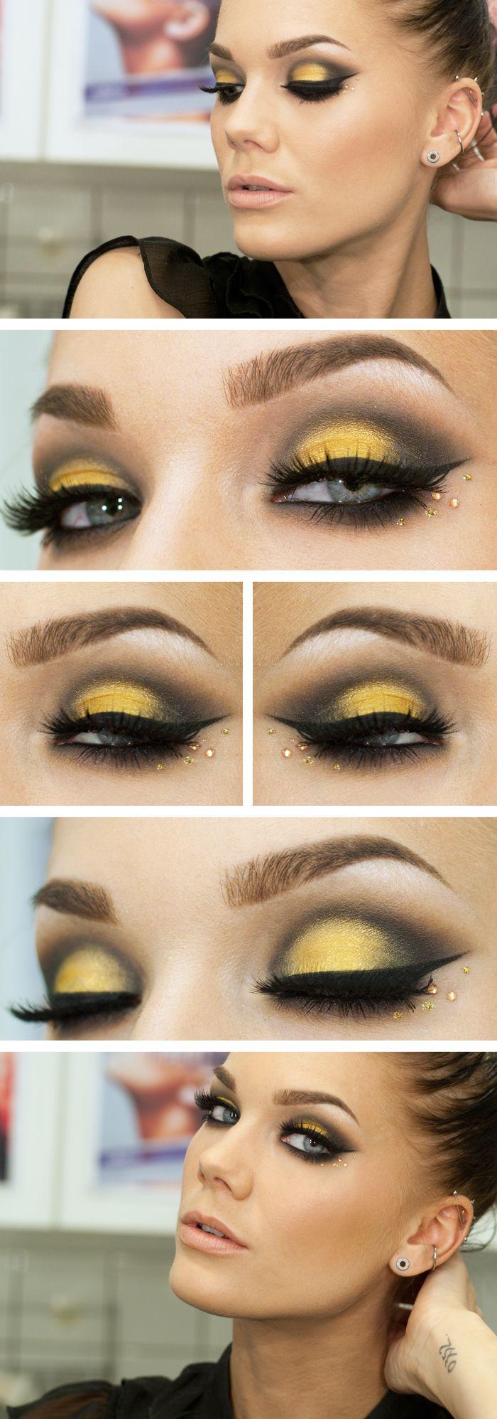 Faddish-Yellow-Eye-Makeup-Tutorial