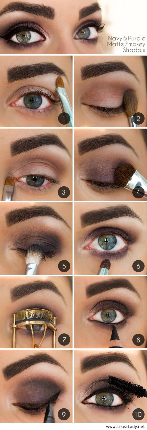 Navy-and-Purple-Smoky-Eyes