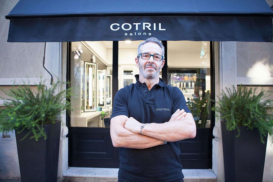 Giuliano Peretti,titolare del Cotril Salons by Giuliano
