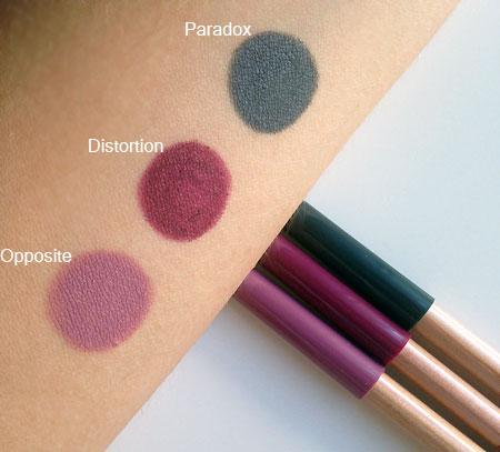 Neve Cosmetics Mutations collezione autunno 2016 Matite Pastello Occhi Swatches