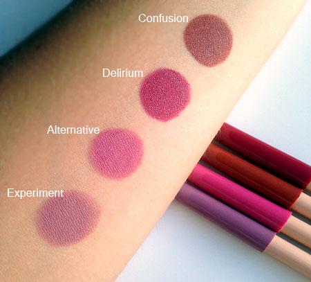 Neve Cosmetics Mutations collezione autunno 2016 Matite Pastello Labbra Swatches