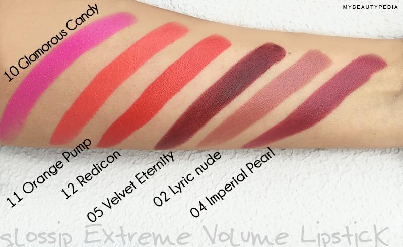 glossip-extreme-volume-lipstick-swatches