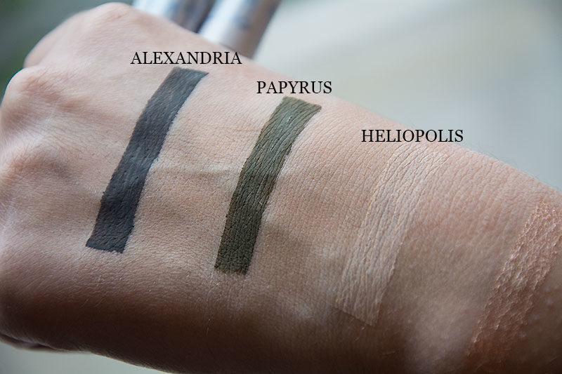 InkMe Neve Cosmetics eyeliner - alexandria, papyrus e heliopolis