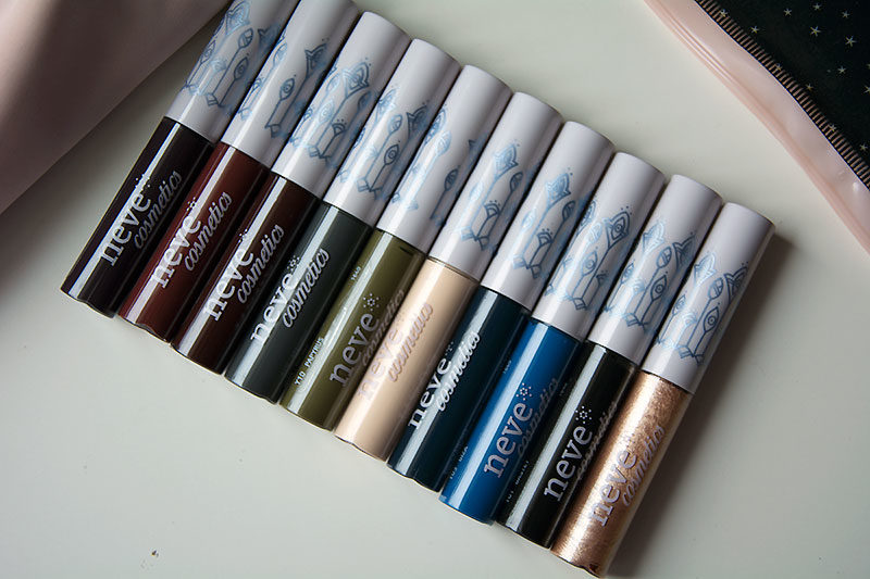 InkMe Me Neve Cosmetics - i dieci colori