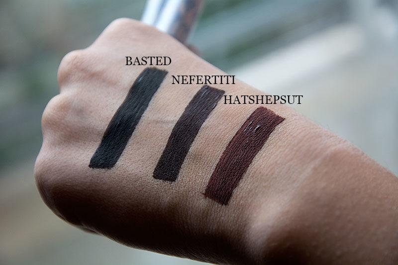 InkMe Neve Cosmetics eyeliner - basted, nefertiti e hatshepsut