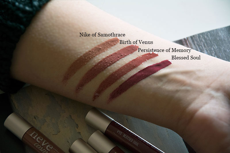 Neve Cosmetics Private Collection nuovi colori dei Vernissage - swatches