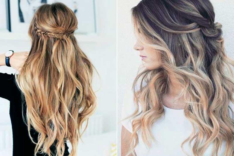 Favoloso Acconciature capelli lunghi, idee semplici e veloci | MYBEAUTYPEDIA OM99