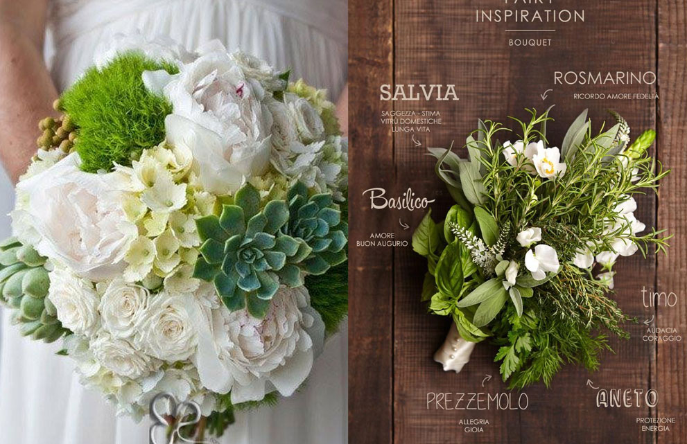 bouquet sposa green