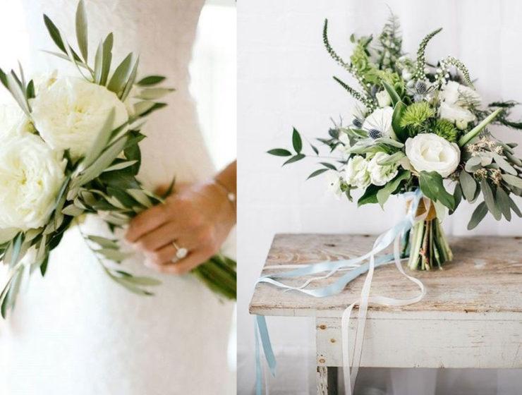 bouquet sposa green