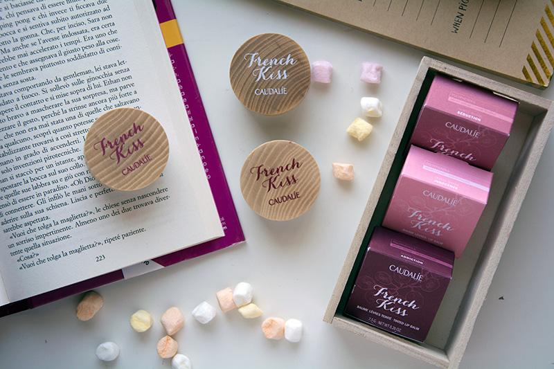 Caudalie French Kiss balsamo labbra colorato nelle tre versioni disponibili