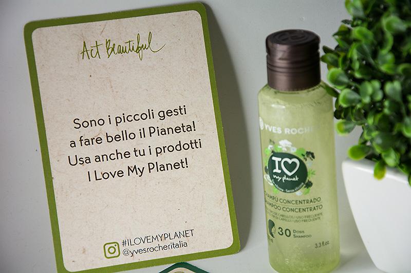 Yves Rocher shampoo concentrato lucentezza I LOVE MY PLANET