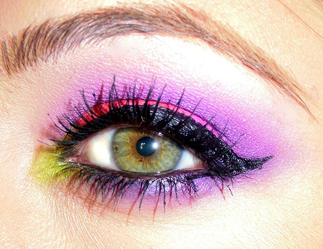 elettric palette urban decay look