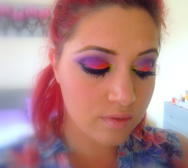elettric urban decay makeup look