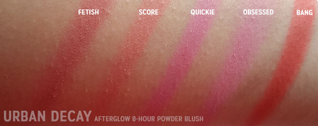 SWATCHES Urban Decay AFTERGLOW 8-HOUR POWDER BLUSH