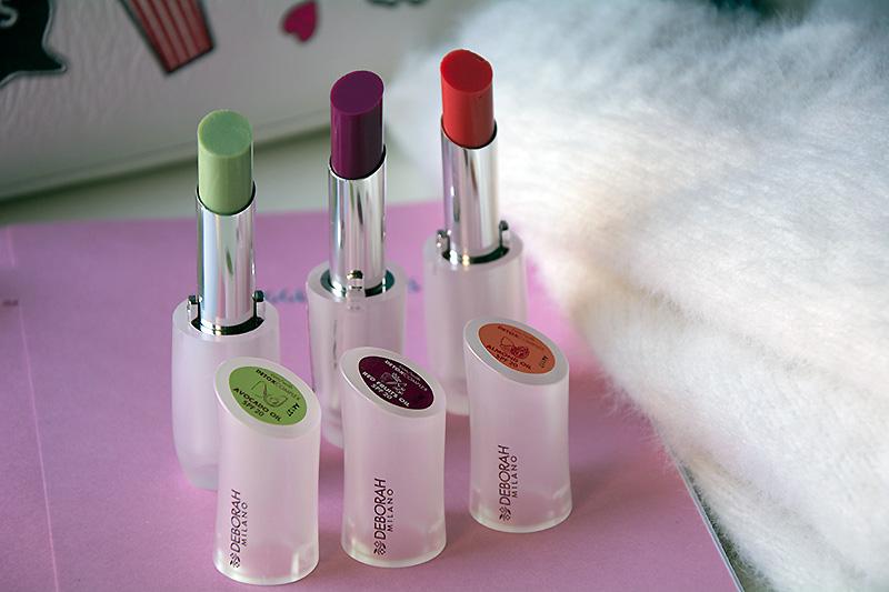 Le tre colorazioni dei Lip Care Balm di Deborah
