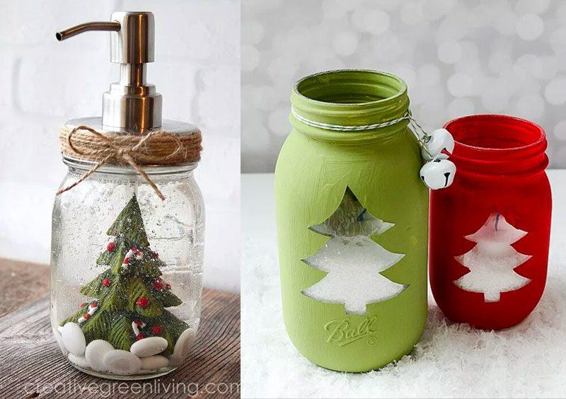 Idee regalo Natale fai da te facili: le Mason Jar ...